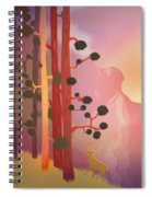 Deer In The Forest - Abstract And Colorful Mountains Spiral Notebook