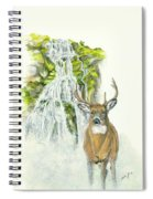 Deer In The Mist Spiral Notebook