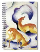 Deer In The Snow 1911 Spiral Notebook