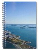 Deer Island In Boston Harbor 14bosl027 Spiral Notebook