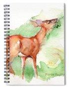 Deer Painting In Watercolor Spiral Notebook
