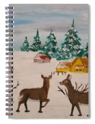 Deer Scene Spiral Notebook