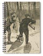 Deer-stalking In The Adirondacks In Winter Spiral Notebook