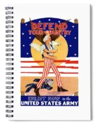 Defend Your Country Enlist Now  Spiral Notebook