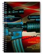 Defender Of Freedom - 2nd Ammendment Spiral Notebook
