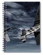 Defensive Split  Spiral Notebook