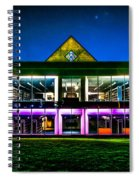Defiance College Library Night View Spiral Notebook
