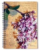 Defining Lilacs Spiral Notebook