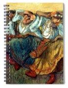 Degas: Dancing Girls, C1895 Spiral Notebook
