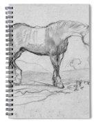 Degas, Horse.  Spiral Notebook