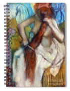Degas:combing Hair,1887-90 Spiral Notebook