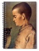 Degouve: Child & Owl, 1892 Spiral Notebook
