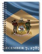 Delaware State Flag Spiral Notebook