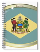 Delaware State Flag Oval Button Spiral Notebook
