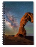 Delicate Air Glow Spiral Notebook