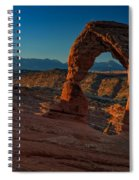 Delicate Arch At Sunrise Spiral Notebook