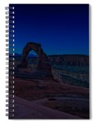 Delicate Arch In The Blue Hour Spiral Notebook