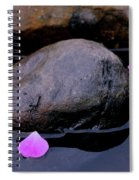 Delicate Petals With Rocks Spiral Notebook