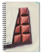 Delicious Chocolate Bar In Wrapping On Plate Spiral Notebook