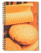 Delicious Cookies With Piece Of Butter Spiral Notebook
