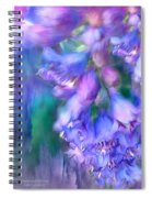 Delphinium Abstract Spiral Notebook