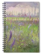 Delphiniums, Storm Passing Spiral Notebook