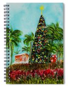 Delray Beach Christmas Tree Spiral Notebook