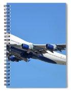 Delta Boeing 747-451 N667us Phoenix Sky Harbor October 7 2017  Spiral Notebook