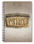 Deluxe Chrome Emblem Spiral Notebook