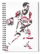 Demar Derozan Toronto Raptors Pixel Art 7 Spiral Notebook