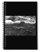 Demolition Derby Rain Storm Clouds #1 Tucson Arizona 1968 Spiral Notebook