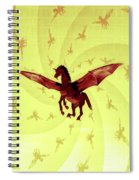 Demon Winged Horse Spiral Notebook