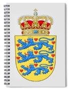 Denmark Coat Of Arms Spiral Notebook