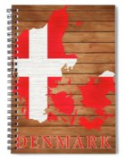 Denmark Rustic Map On Wood Spiral Notebook