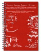 Dentists Chair Patent 1892 In Red Spiral Notebook