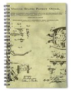 Dentists Chair Patent 1892 In Vintage  Spiral Notebook