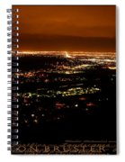 Denver Area At Night From Lookout Mountain Spiral Notebook