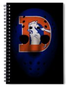 Denver Broncos War Mask 3 Spiral Notebook