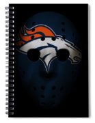 Denver Broncos War Mask Spiral Notebook