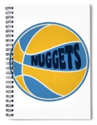 Denver Nuggets Retro Shirt Spiral Notebook