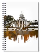 Denver Skyline City Brown Spiral Notebook