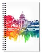 Denver Skyline City Color Spiral Notebook