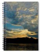 Departing Clouds Spiral Notebook