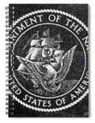 Department Of The Navy Emblem Polished Granite Spiral Notebook