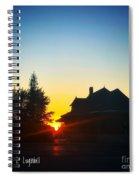 Depot At Sunset Spiral Notebook