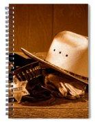 Deputy Sheriff Gear - Sepia Spiral Notebook