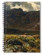 Der Hintere Murgsee. St. Galler Alpen. 1878 Spiral Notebook