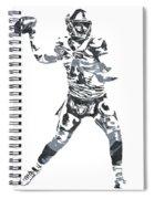 Derek Carr Oakland Raiders Pixel Art 11 Spiral Notebook