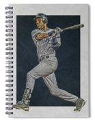 Derek Jeter New York Yankees Art 2 Spiral Notebook