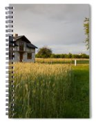 Derelict Disused House In Field Spiral Notebook